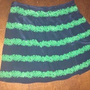 J Crew Silk Mini Skirt